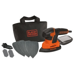 Black and Decker - Levigatrice Mouse 120W con borsa multiuso e 6 accessori - KA2000