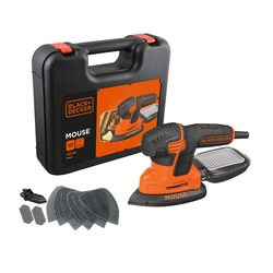 Black and Decker - Levigatrice Mouse 120W in valigetta con 9 accessori - KA2500K