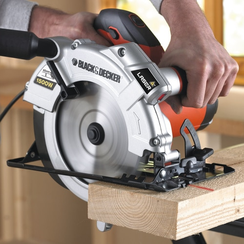 Black and Decker - 1500 Watt Handkreissge mit eingebautem Laser - KS1500LK