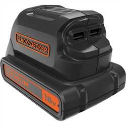 Black and Decker - 18V USB Ladeadapter - BDCU15AN