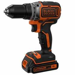 Black and Decker - 18V Lithiumion Brushless 2 Gear Drill Driver  2 Batteries  400mA charger  Kit Box - BL186KB