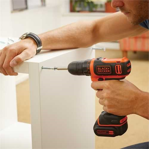 Black and Decker - 108V Ultrakompakt LiIon Bohrschrauber - BDCDD12KB
