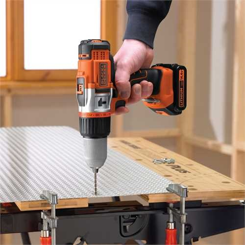 Black and Decker - 144V High Performance LiIonen 2Gang AkkuSchlagbohrschrauber - EGBHP148BK