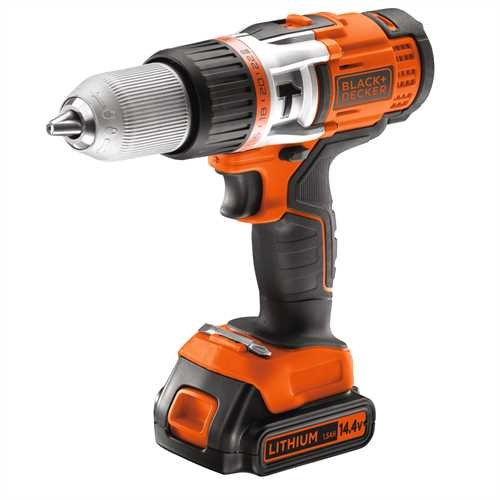 Black and Decker - 144V High Performance LiIonen 2Gang AkkuSchlagbohrschrauber - EGBHP148K