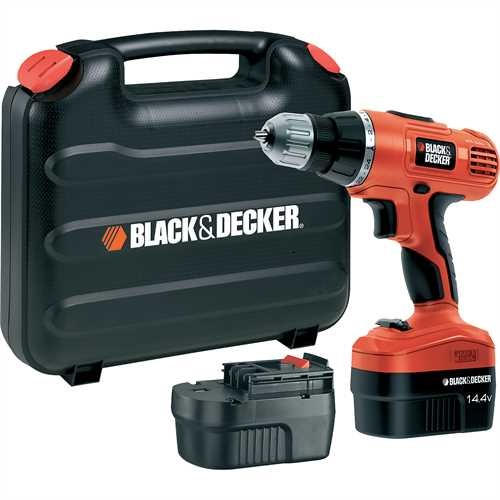 Black and Decker - DE New EPP 144V Cordless Drill 2 batteries - EPC146BK