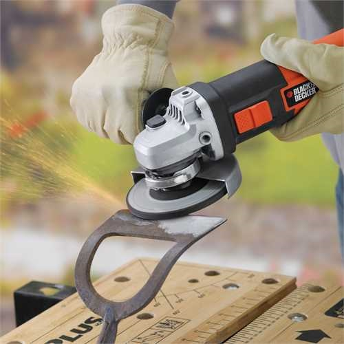 Black and Decker - 900W 125mm EinhandWinkelschleifer - KG902K